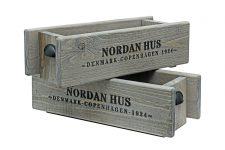 Holzkiste & Aufbewahrungsbox KALLE mit Schriftzug NORDAN HUS