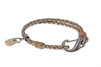 Design Leder Armband BENT mit Anhänger