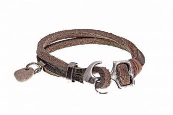 Design Leder Armband KENO mit Anhänger