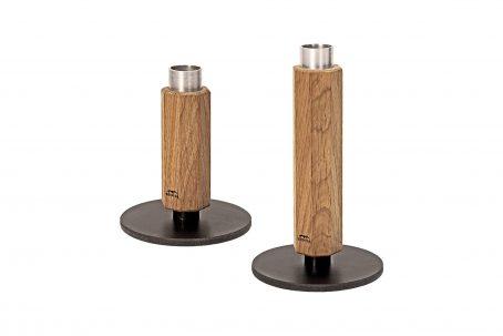 Design Kerzenständer Kerzenhalter Holz Eiche Wohnen Deko nordic