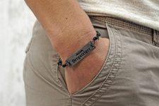 Design Holz und Leder Armband BERGE Alpenliebe