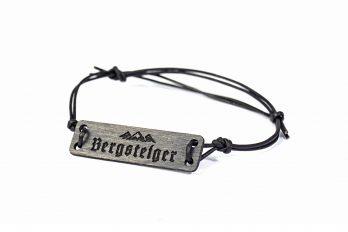 Design Holz und Leder Armband BERGE Bergsteiger