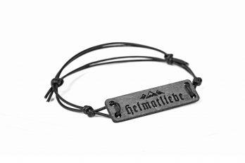 Design Holz und Leder Armband BERGE Heimatliebe