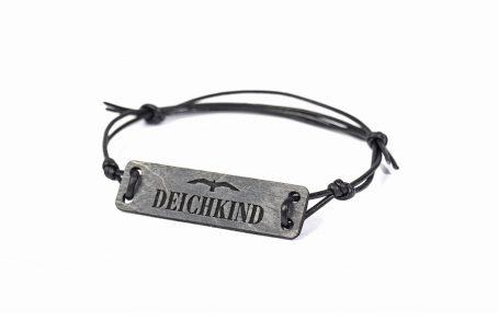 Design Armband Outdoor MEERE Ostsee Nordsee Holz Leder Geschenk Verpackung maritim DEICHKIND