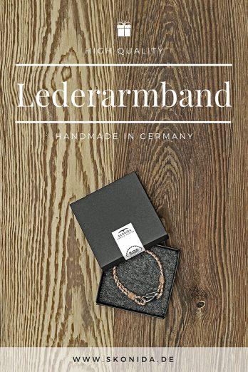 design lederarmband leder armband braun silber edelstahl geschenk geschenkidee geschenkbox hochwertig stilvoll einzigartig qualität handmade germany skonida