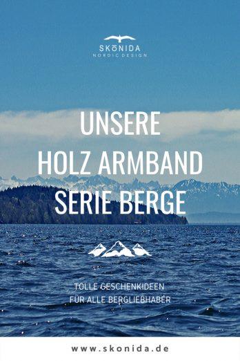 Skonida Armband BERGE Bergschmuck Holzschmuck Schmuck Armband Alpen Bergsteiger Wanderer Wandern Klettern Gravur