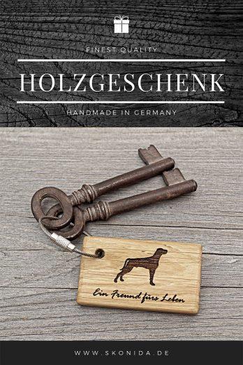 Skonida Geschenke aus Holz Holzgeschenk Geschenkbox nachhaltiges Geschenk umweltschonend Schlüsselanhänger Gravur Eiche