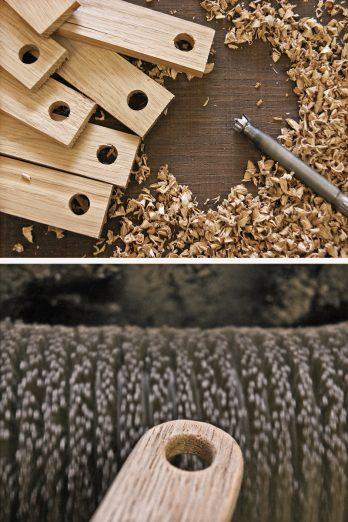 SKONIDA nordic design Herstellung Bearbeitung Fertigung Schlüsselanhänger Holz handgemacht handmade in germany