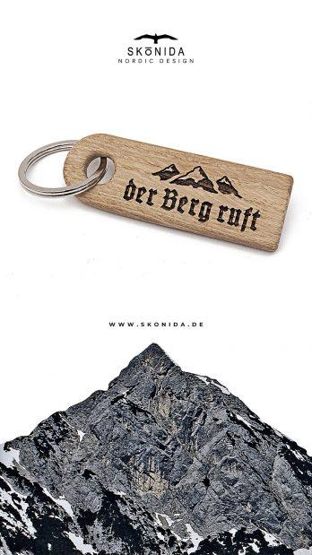 skonida nordic design schlüsselanhänger schlüsselband schlüssel alpin berge alpen alm accessoire trachten trachtenmode bergschmuck bayern eiche geschenk geschenkidee geschenkbox