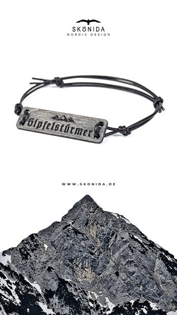 skonida armband holzarmband treibholz optik leder alpin berge alpen bayern trachten trachtenmode accessoire schmuck bergschmuck