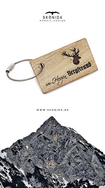 skonida schlüsselanhänger schlüsselband im herzen bergfreund eiche alpin berge alpen bayern trachten trachtenmode accessoire schmuck bergschmuck