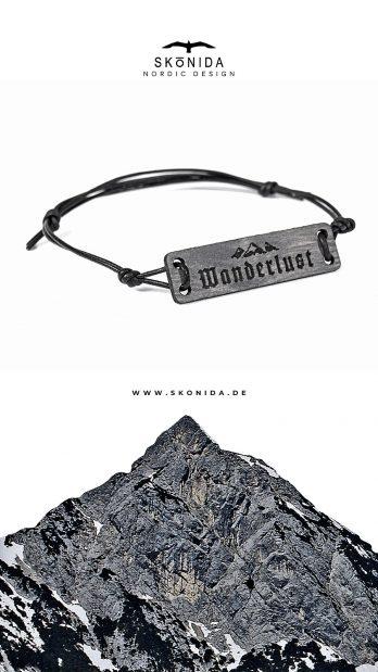 skonida armband holzarmband treibholz optik leder alpin berge alpen bayern trachten trachtenmode accessoire schmuck bergschmuck wandern wanderlust