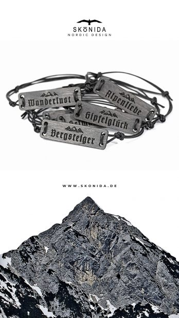 skonida nordic design armband holzarmband alpin berge alpen alm accessoire trachten trachtenmode bergschmuck bayern treibholz optik bergtour geschenk geschenkidee geschenkbox