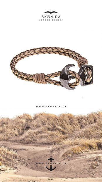 SKONIDA nordic design geburtstagsgeschenk geschenk geburtstag geschenkidee armband lederarmband ankerarmband anker ankerverschluss leder bjarnes
