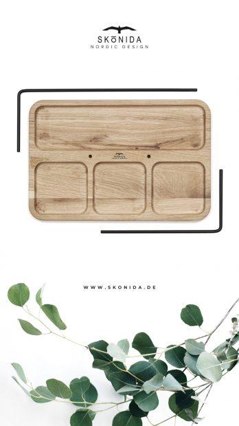 SKONIDA nordic design Schmuckablage Schmuckhalter Schmucktablett Schmuckständer Schmuckaufbewahrung Holz Eiche STELLAN