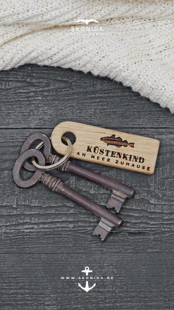 skonida nordic design schlüsselanhänger snorre küstenkind schlüsselband maritim nordisch ostsee nordsee