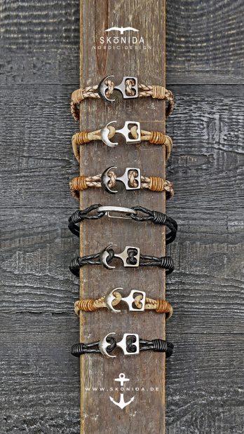 skonida nordic design armband armbänder ankerarmbänder lederarmbänder korkarmbänder anker ostsee nordsee fehmarn rügen