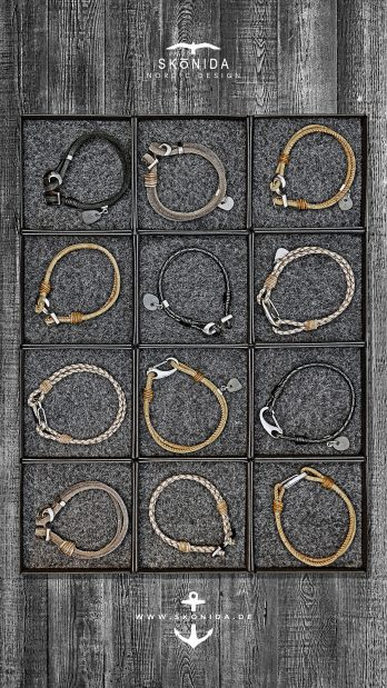 skonida nordic design armbänder armband lederarmband korkarmband holzarmband