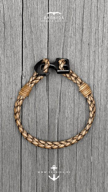 skonida nordic design ankerarmband bjarne armband lederarmband maritim geschenk geschenkidee geschenkbox