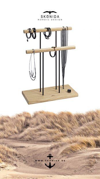 SKONIDA nordic design geburtstagsgeschenk geschenk geburtstag geschenkidee schmuckständer schmuckhalter schmuckbaum schmucktablett schmuckschale holz skadi