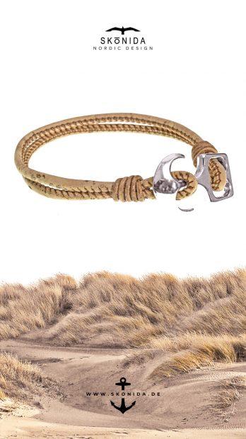 SKONIDA nordic design geburtstagsgeschenk geschenk geburtstag geschenkidee armband kork korkarmband lederarmband anker ankerverschluß lieke