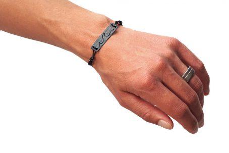 SKONIDA Armband WAVE Holzarmband Armband aus Holz und Leder Gravur Welle surfen segeln kiten Meer Ostsee Nordsee Geschenk Geschenkidee Geschenkbox Geschenkverpackung