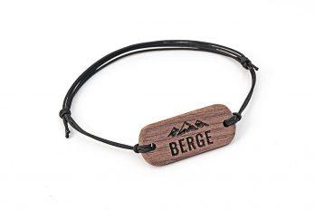 Armband mit Gravur BERGE aus Holz in Geschenkbox