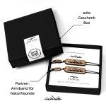 Design Freundschafts-Armband mit Berg Gravur 2er Pack – für Kletterer & Bergsteiger- für Damen & Herren in Geschenk-Box