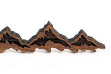 Schlüsselanhänger Holz Berge – Taschenanhänger mit BERG-Gravur – Keychain Farbe Nussbaum – Geschenk für Damen & Herren