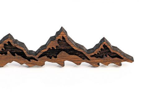 schlüsselanhänger berge berg geschenk geschenkidee alpen österreich-klettern kletterer accessoires gadget gimmick keychain mountain bergsteiger gipfelstürmer alpen style holz nussbaum