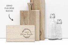 Frühstücksbrettchen aus Holz – Küchenbrett aus Esche mit Gravur – Frühstücksbrett 26×15 cm für Genießer