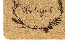 Untersetzer Winter mit Spruch – Korkuntersetzer eckig 4 er Set – Glasuntersetzer als Geschenk für Herbst, Advent, Weihnachten, Xmas