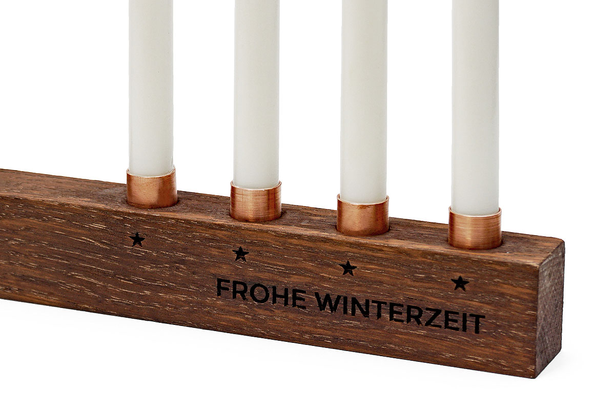 Weihnachten Deko Holz Adventskerzenständer Advent Kerzen Ständer