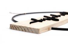 Türkranz Weihnachten mit Metall-Ring – Weihnachtskranz 3D Schrift auf Natur-Holz – Türdeko für Herbst, Advent, Winter, Christmas, Xmas