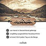 Design Bergsteiger-Armband mit Berg Gravur – stilvoller Holz-Schmuck für Damen & Herren in Geschenk-Box