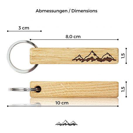 schlüsselanhänger schlüsselband taschenanhänger rucksackanhänger key-chain holz-schlüsselanhänger berge outdoor wandern bergsteiger holz natur alpen