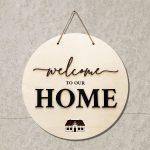 Welcome Home Schild modern – 3D Schrift Willkommen Türdeko zum Aufhängen