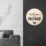 Welcome Tür-Schild aus Holz – 3D Schrift Willkommen Deko zum Kleben